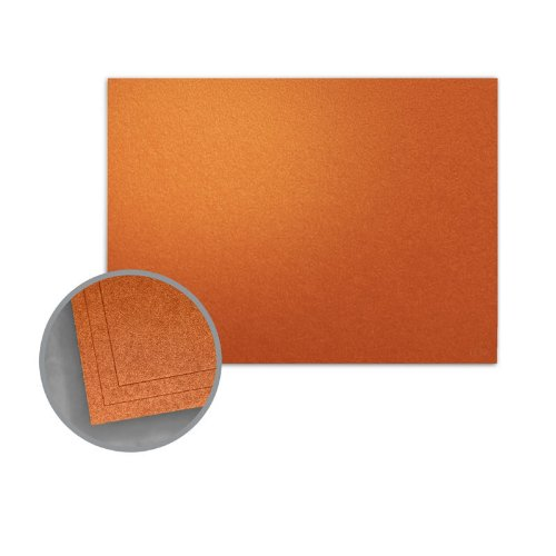 ASPIRE Petallics Copper Ore Flat Cards - A4 (3 1/2 x 4 7/8) 98 lb Cover Metallic C/2S 800 per Carton