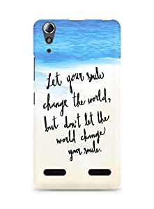 AMEZ let your smile change the world Back Cover For Lenovo A6000