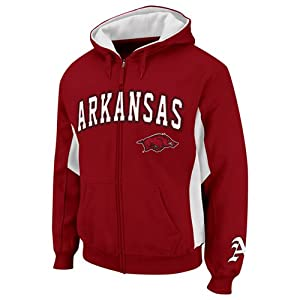 NCAA Arkansas Razorbacks Turf Fleece Full Zip Hoodie - Cardinal by Colosseum