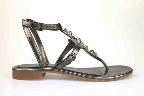 scarpe donna APEPAZZA sandali grigio scuro pelle AK624 (37 EU)
