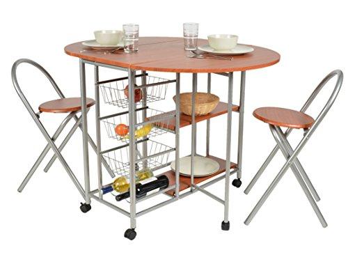 ts-ideen-Essgruppe-3-teilig-Frhstckstisch-MDF-Nussholzoptik-Tisch-79x110cm-auf-Rollen-Stuhl-Sthle-fr-Kche-Esszimmer-Studentenwohnung-oder-Bro