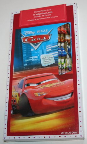 Disney-Pixar Cars Valentines - 16 Valentine and 16 Pencils