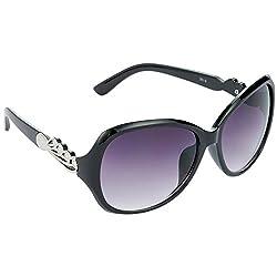 Hrinkar Queen Bee Over-sized Grey Lens & Black Frame Sunglasses for Women - HRS62