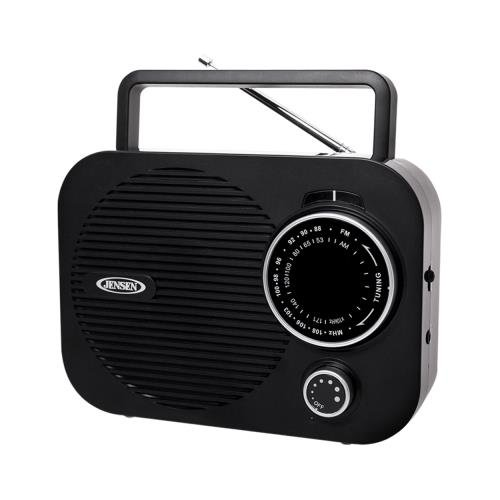 Jensen Mr550Bk Black Portable Am Fm Radio W/ Auxillary Input (Jensen Mr550Bk)