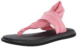 Sanuk Women\'s W Yoga Sling 2 Flip Flop,Neon Pink,11 M US