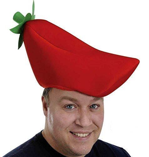 Plush Chili Pepper Hat Party Accessory (1 Count) Pkg/3