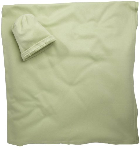 Moby Newborn Baby Sun Protection Organic Blanket - Celery front-569236