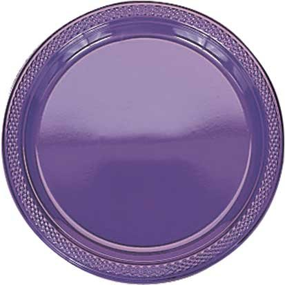 Bright Purple Dinner Plates, 20ct - 1