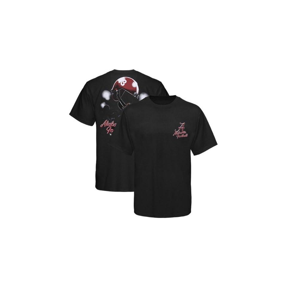 Bama Crimson Tide Tee Shirt  Alabama Crimson Tide Black Helmet In Air