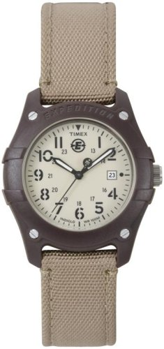 Timex Midsize Analog Camper Canvas Strap Expedition Watch #T49694