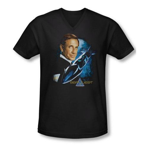 Seaquest Dsv Science Fiction Tv Series Sub And Captain Adult V-Neck T-Shirt Tee
