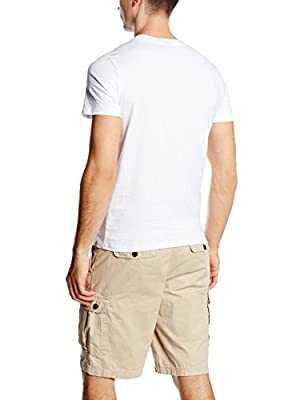 Jack & Jones Men's Jorhusky Tee Ss Crew Neck T-Shirt, Weiß, XX-Large