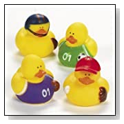 Assorted Sports Rubber Duckys