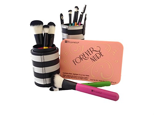 BH Cosmetics Forever Nude Palette and Pop Art Brush Set 12-Piece Bundle (Bh Cosmetics 12 Piece Brush Set compare prices)
