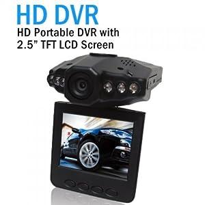 2,5 pouces voiture HD 6LED véhicule DVR Caméra vidéo Traffic caméscope enregistreur LCD de 270 tourbillon