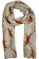 Lady Womens Colorful Long Fox Wolf Animal Print Scarf Wraps Shawl Soft Scarves
