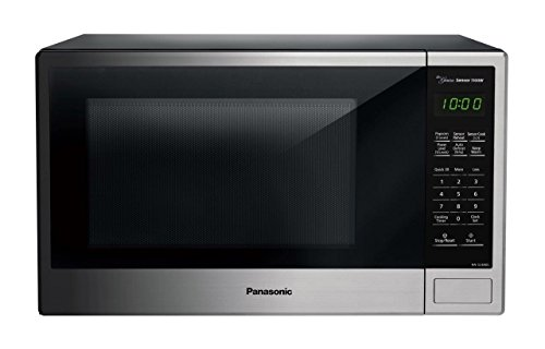 Panasonic NN-SU696S Countertop Microwave Oven with Genius Cooking Sensor and Popcorn Button, 1.3 cu. ft., Stainless (Microwaves Countertop Panasonic compare prices)