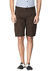 Travellers Essential Brown Cargo Shorts(12040500901)