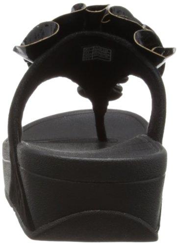 FitFlop Womens's Frou Cork Dress Sandal,Black,8 M US
