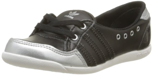 Adidas Originals Unisex-Child Forum Slipper K-2 Trainers D67272 Black/Black/Silver 5.5 UK, 38.5 EU