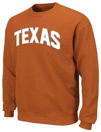 Texas Longhorns Tek Patch Long Sleeve Fleece Pullover From Section 101 by Majest by Texas Longhorns