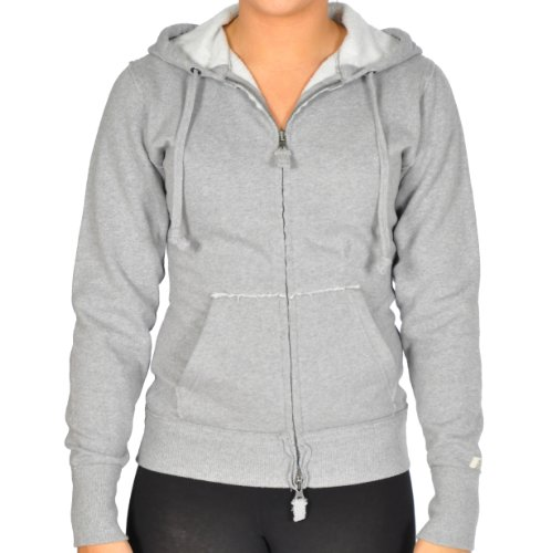 Russell Athletic Womens Classic Cotton Full Zip Hoodie,Grey,L