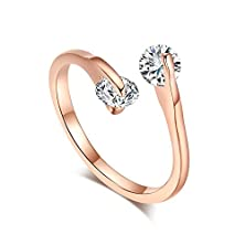 buy Bbx Jewelry Rose Gold Women'S Rings White Zircon Wedding Band And Engagement Openings Rings