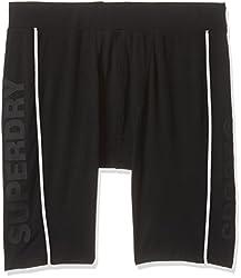 Superdry Men's Synthetic Shorts (5054265582127_M71001PM_L_Black)