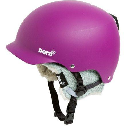 Bern BMX Helm Muse mit grauem Innenfutter matt lila