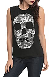 Floral Skull Girls Muscle Top 3XL