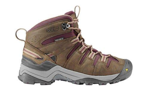 Keen Women's Gypsum Mid Waterproof Hiking Boot,Shitake/Eggplant,10.5 M US