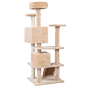 New Cat Tree Tower Condo Furniture Scratch Post Kitty Pet House Play Beige, Constructed Of E1 Grade Particleboard, Premium Quality!
