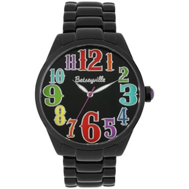 Betseyville® Black Metal Colored Numbers Watch