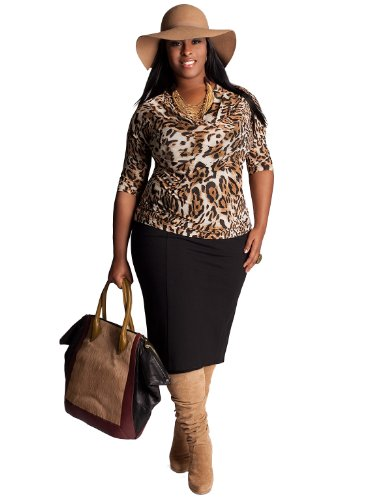 Cheap IGIGI by Yuliya Raquel Plus Size Dietrich Top in Brown