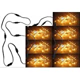 ASCENSION Set Of 7 Rice Lights Serial Bulbs Decoration Lighting For Festival Diwali Christmas With 7 Female Sockets...