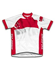 Singapore Flag Short Sleeve Cycling Jersey for Women
