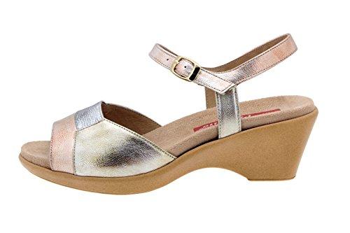 Scarpe donna comfort pelle Piesanto 4852 sandali soletta estraibile comfort larghezza speciale