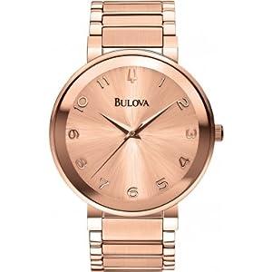 Bulova 97L127 Ladies Rose Gold Dress Watch
