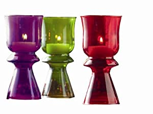 #!Cheap Tag Trumpet Glass Candleholders, Set of 3 Assorted Colors