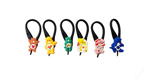 6 pcs Sweet Care Bears Soft Zipper Pull Charms for Backpack Bag Pendant Jacket