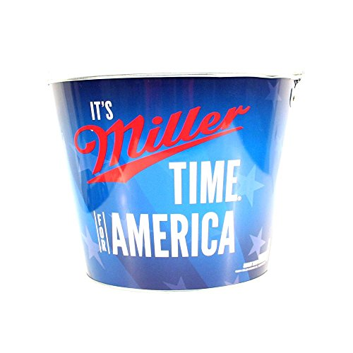 miller-lite-it-is-miller-time-usa-beer-bucket-galvanised-tin-with-handle