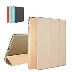 "iPad Pro 9.7 Case, MTRONXâ""¢ Smart Cover Case Lightweight Ultra Slim Fit Folio Protective Cover Stand with Magnetic Auto Wake & Sleep for Apple iPad Pro 9.7 Inch (2016 Model) - Gold (FB-GD)"