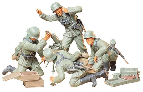 Tamiya 1/35 German Infantry Mortar Team Set - 1