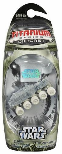 Star Wars, Titanium Series Die-Cast, Clone Turbo Tank (Arctic), 3 Inches - 1