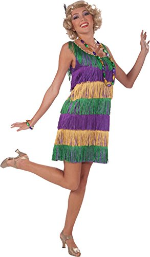 Mardi Gras Flapper Adult Costume Halloween Costume