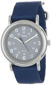 Timex Unisex T2N891 Weekender Slip-Thru Blue Nylon Strap Watch