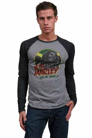 Billabong Men's Bob Marley Get Up Stand Up Long Sleeve Shirt MT4BSGET-DGR-Medium