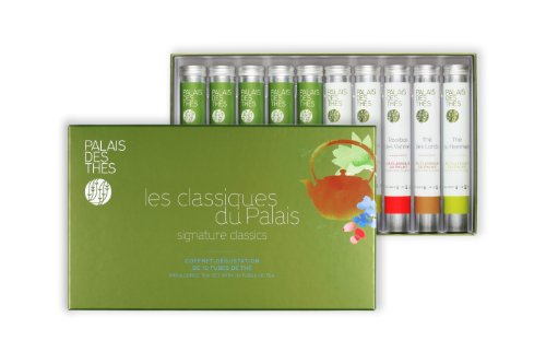 Palais Des Thés Signature Classics Indulgence Tea Set With Ten Tubes Of Loose Tea, 120G (4.2Oz)