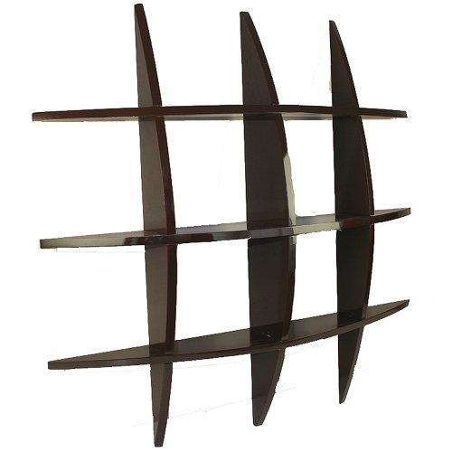 Homestyle4u wandregal wandboard retro cube regal for Regal dunkelbraun