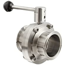 "Dixon B5101E250CC-A Stainless Steel 316L Butterfly Valve with Pull Handle and EPDM Seal, 2-1/2"" Tube OD"